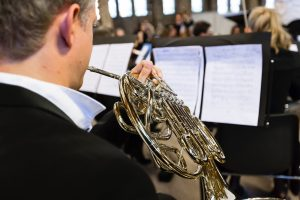 french horn in concert